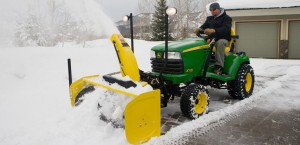 Snow Blower And Snow Plow Attachment For Lawn Tractors