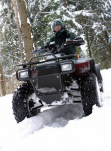 atv snow plow studs traction